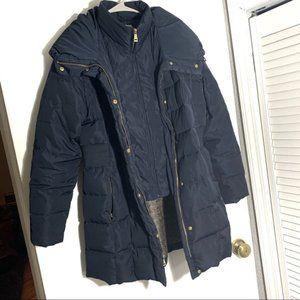 Cole Haan navy down puff coat.